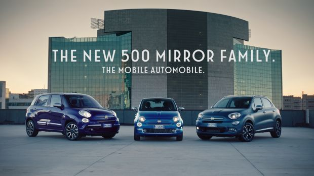 New advertising campaign for the Fiat 500 Mirror family goes on air