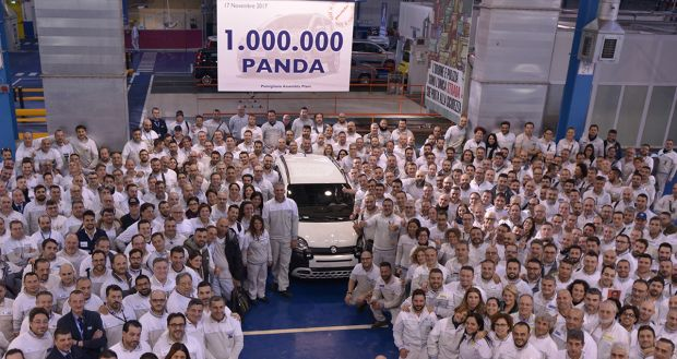 The one-millionth Fiat Panda made today