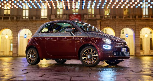"""The Fiat Range on Show in the Squares of Turin under the Lights of """"Luci d'Artista"""""""