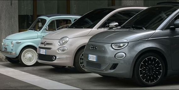 NEW FIAT 500 MAKES DEBUT ON THE STREETS OF TURIN
